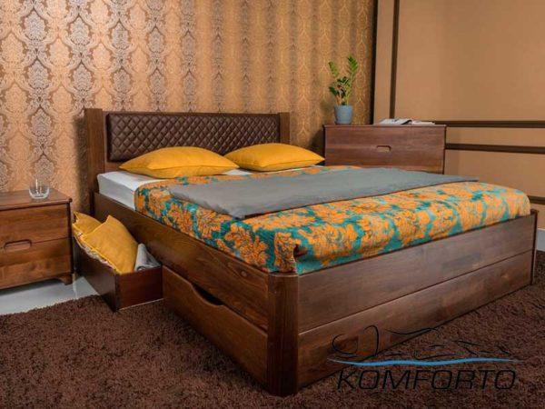 Ліжко Грейс з шухлядами