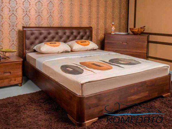 Ліжко Мілена Преміум м'яка спинка ромби