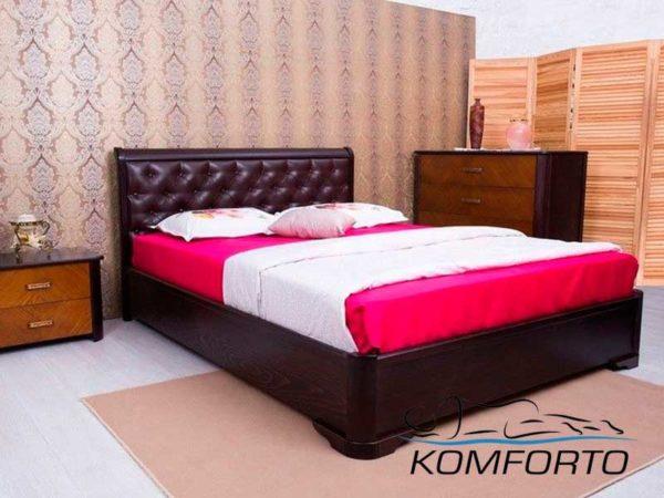 Ліжко Мілена з м'якою спинкою ромби