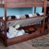 Двоярусне ліжко Рукавичка з підйомним механізмом 7843