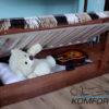 Двоярусне ліжко Рукавичка з підйомним механізмом 7844