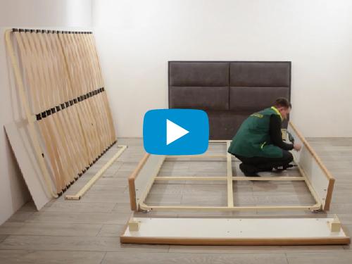 Видео инструкция по сборке мягких кроватей Ричман