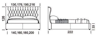 Габарити ліжко Неаполь
